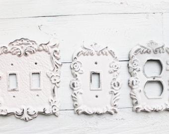 Light Switch Cover, Shabby Chic Light Switch Cover ,Single Light Switch ,Nursery Decor, Switchplate,Wall Decor ,Farmhouse,Bedroom,Bath