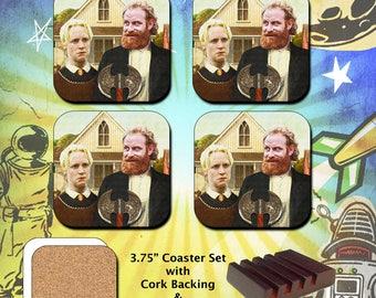 Game of Thrones / Tormund and Brienne Westeros Gothic / Coaster Set