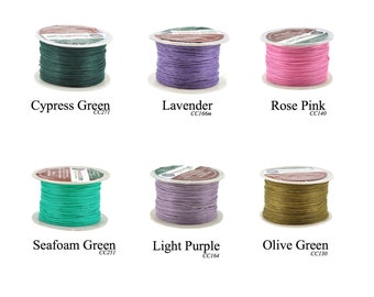 Mandala Crafts Waxed Cord, Beading Cord, 4 Ply, 1mm, 100 Meters, 109 Yards, Different Color Selections