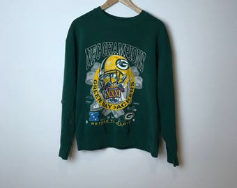 Vintage 1997 Greenbay packers NFC Championship sweater
