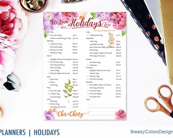 Floral Marketing Calendar 2018, Monthly Planner Printable, Social Media Ideas, Home Business Guide, 8.5x11 Letter Size, Instant Download PDF