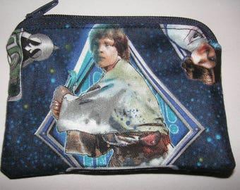 Star Wars handmade fabric coin change purse zipper pouch