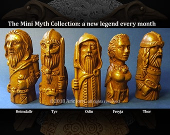 The Mini Myth Collection® the gods, goddesses, creatures and heroes of Norse/Viking mythology