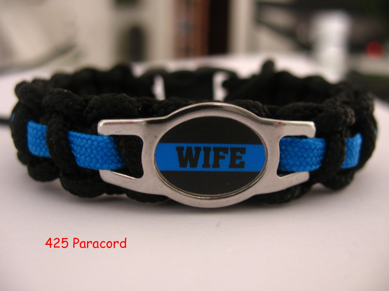 Thin Blue Line Law Enforcement Wife Logo Paracord