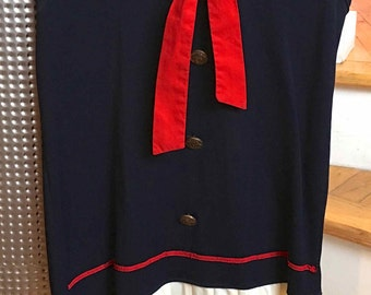 Red, White and Blue Vintage Child's Sailor Dress