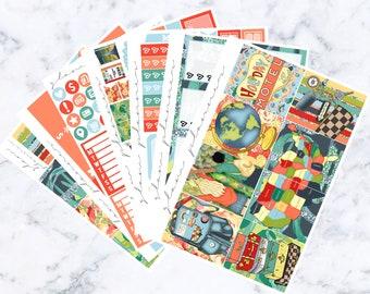 Roadtrip Luxe Sticker Kit (Glam Planner Stickers for Erin Condren Life Planner)