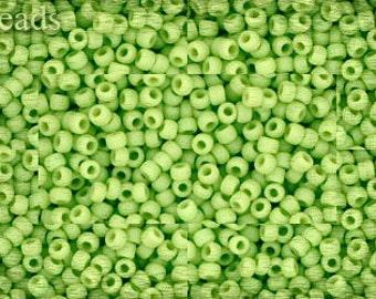 11/0 TOHO seed beads 10g Toho beads 11/0 seed beads Opaque Light green 11-44F Frosted Matte beads last