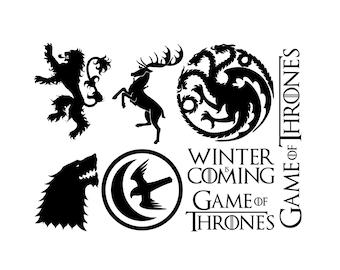 Game of Thrones - Multi Vinyl - Wall sticker - Car Decal - Ipad - Contemporary - Vinyl Decal