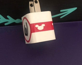 Mickey Mouse phone charger decals