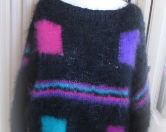 Mohair Sweater – Neon Squares