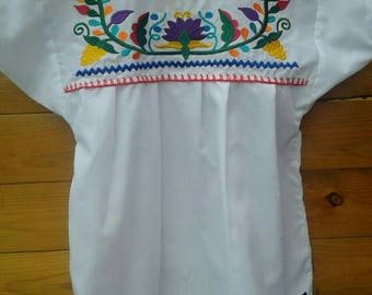 Mexican Embroidered Girl Blouse size 10-12 years old