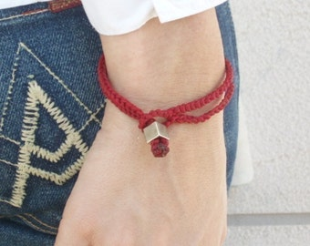 Red bracelets unisex luck jewelry rope bracelet mens kabbalah red string good energies cameo By Red Bracelet on Etsy