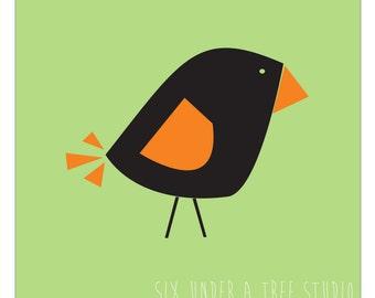 One Little Bird III Wall Vinyl Decals Art Graphics Stickers