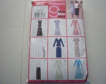 Pattern Ladies Top Skirt and Scarf Set - Sizes 14-16-18 Butterick  3037