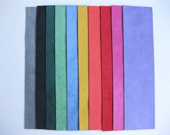 Ultrasuede Strips - 2x8 Inch Beautiful Bold Colors