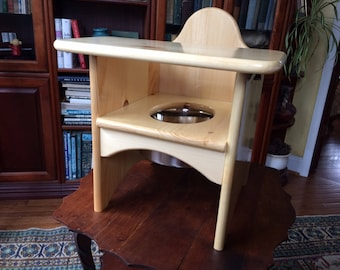 Solid Wood Potty Chair