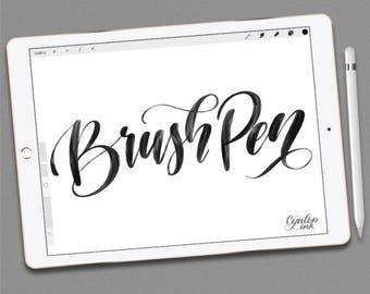 Custom Procreate Brush: Brush Pen