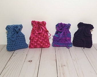 Crochet Pouch, Crystal Pouch, Essential Oil Pouch, Crystal Bag, Essential Oil Bag, Medicine Bag, Coin Purse, Essential Oil Purse