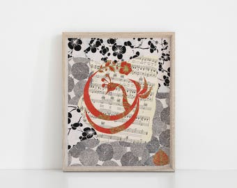 "Bird on Fire 8""x10"" giclee print"