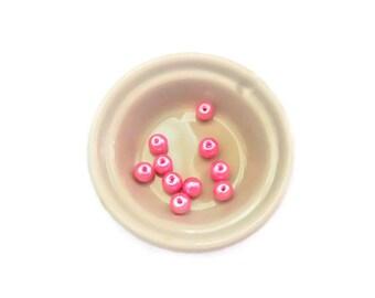 10 pearls glass 6 mm light pink