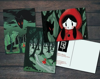 Red Riding Hood Postcard Series