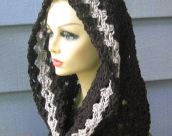 PATTERN C-041 / Crochet Pattern / Marie Cowl ... 240 yards