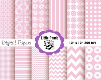 70% OFF SALE 1st Birthday Digital Scrapbooking Papers  - Instant Download - D74