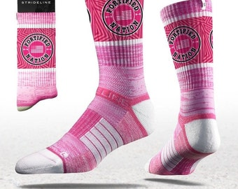 Fortified Nation Strideline Crew Socks - Pink