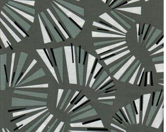 Sale! 1/2  yard Jane Dixon Poppy Modern Andover Fabrics Grey Line Swirls  - Out of Print