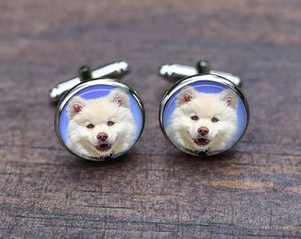Cuff links, Cat, custom your own cat, Real Cat, White cats Cufflinks, Custom Name Cats, Cats lover, christmas gifts