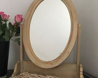 Removable wooden mirror