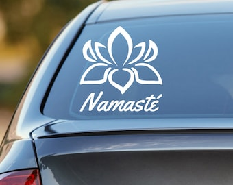 Lotus Decal, Lotus Flower Decal, Lotus Car Decal, Namaste Car Decal, Namaste Decal, Yoga Decal, Yoga Car Decal, Yoga Sticker, Laptop Decal