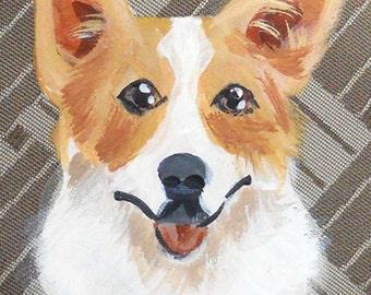 Welsh Corgi Coin Purse ~ Gifts for Her ~ Corgi Lover Gift ~ Corgi Portrait ~ May Birthday ~ Dog Coin Purse