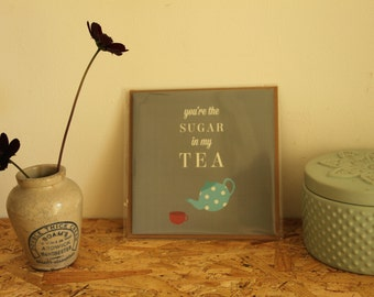 Love Card // Tea Lover // Valentines Day Card // Love Quote