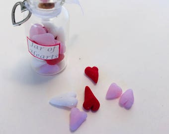 Jar of Hearts, Valentine fairy dust, love Charm, Wedding favour charm