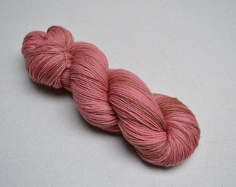 Naturally Dyed Sock Yarn: Cochineal and Madder
