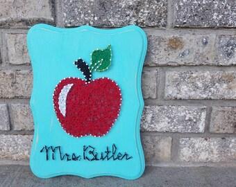 Apple for Teacher string art - teacher appreciation