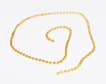 1 x ball chain gold plated