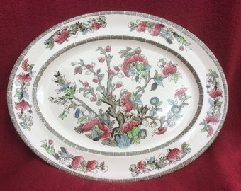 "Johnson Brothers Indian Tree Oval Server Platter 10 7/8"" x 14"""