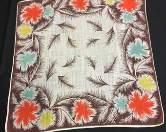 Vintage Feather Design Hanky