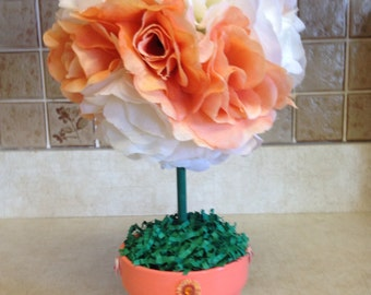 Topiary, Spring Topiary. Rose Topiary. Floral Topiary, Handmade Topiary, Handmade Spring Topiary, Handmade Floral Topiary, Mothers Day Gifts