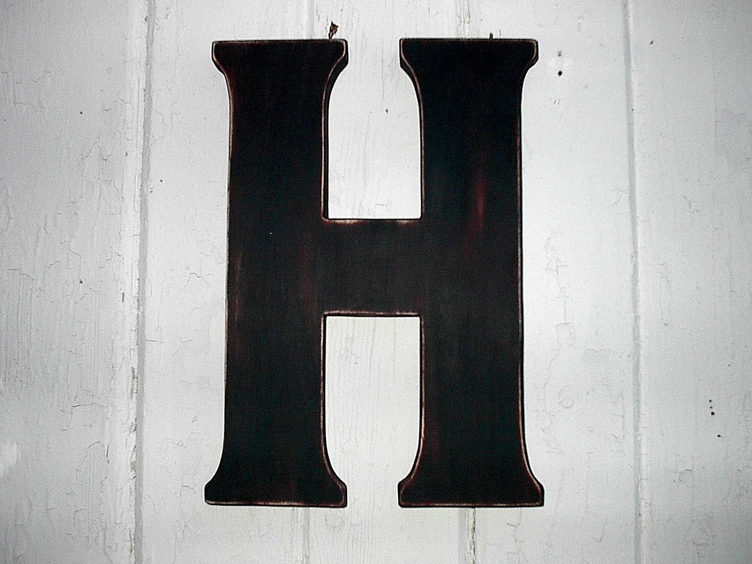 Black Wall Letters Wooden Letters 12 Black H Rustic Shabby Chic Decor