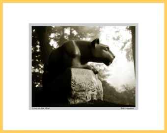 Nittany Lion Shrine photo at Penn State, State College, PA - Hand Signed and Titled (11x14 matted photograph)