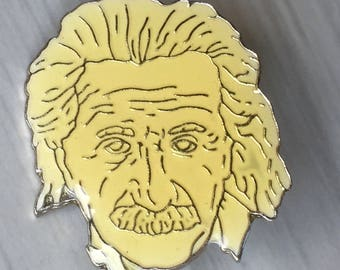 Albert Einstein pin - scientist science genius inventor historical history nuclear physics philosophy theory relativity 20th century Jewish