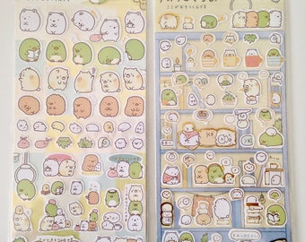 Sumikko Gurashi bestest buddies stickers cute kawaii polar bear cat penguin cutlet tapioca weed