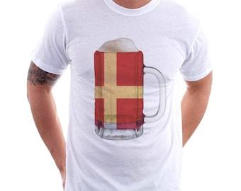 Norway Country Flag Beer Mug Tee, Home Tee, Country Pride, Country Tee, Beer Tee, Beer T-Shirt, Beer Thinkers, Beer Lovers Tee, Fun Tee