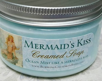Creamed Soap - Mermaid's Kiss - Bath Whip - Whipped Soap - Mermaid Soap - Cream Soap - Daylily - Seaspray - Watery Florals