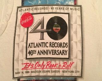 1988 Atlantic Records 40th Anniversary Concert T-shirt
