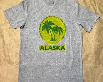 ALASKA-Vegan handprinted grey-melange size M - mens