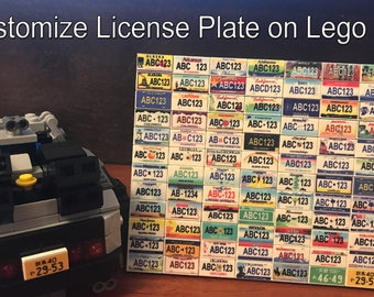 Mini License Plate on Lego 1x2 Tile